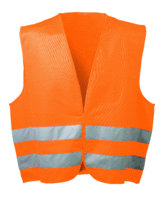 Warnweste Polyester floureszierend orange