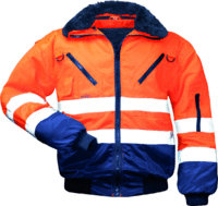 Warnpilotenjacke Erik orange / marine